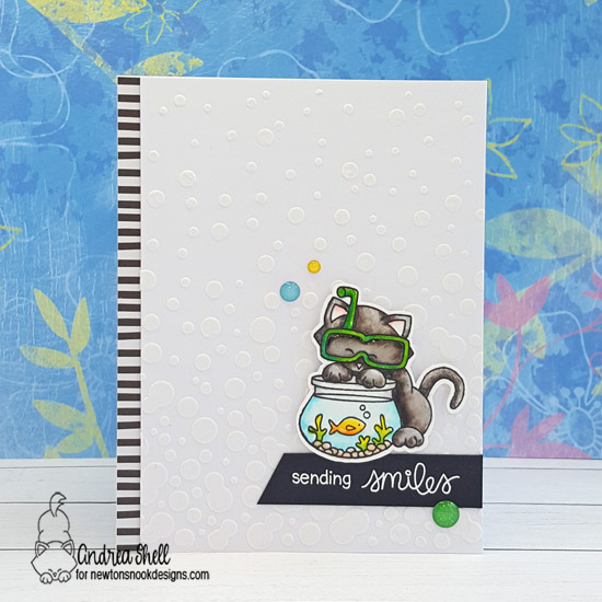 Sending Smiles by Andrea features Newton's Summer Vacation, Sending Hugs, and Bubbly by Newton's Nook Designs; #newtonsnook