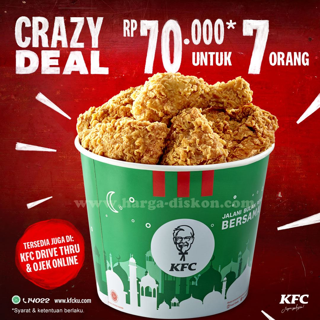 Promo Kfc Crazy Deals 7pcs Ayam Rp70 000 Mulai 18 Mei 2020 News And Talking