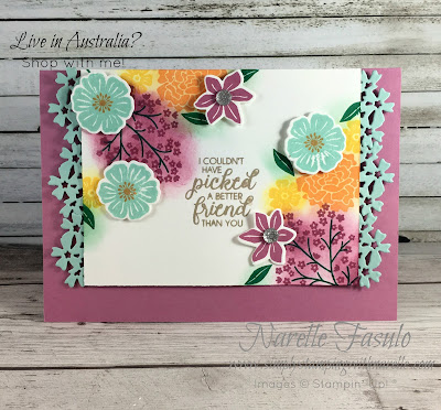 Beautiful Bouquet - Make stunning cards like this with this gorgeous bundle of stamps and framelits - Get your here - http://bit.ly/2IBKNQi