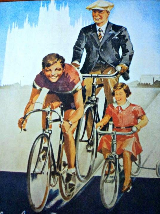 Cartaz exposto no MuBi, o Museu da Bicicleta de Joinville