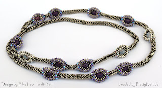 "beaded necklace ""Dragon"" beaded by PrettyNett.de"