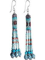 Peyote Tassel Earrings