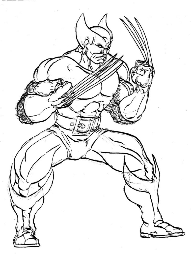 coloring pages for kids free images wolverine logan free coloring