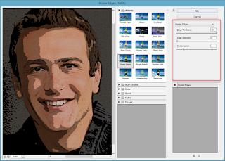 memberikan filter poster edges untuk membuat vektor dengan photoshop