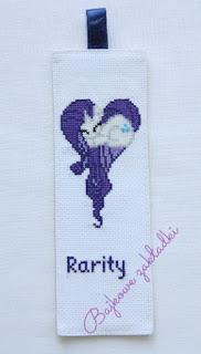 Zakładka do książki Rarity – Rarity bookmark