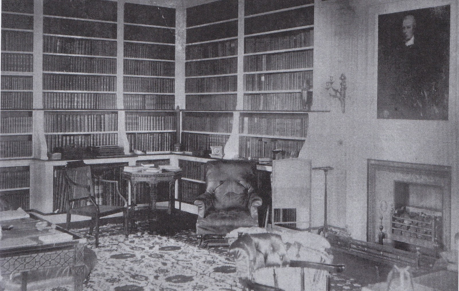 Figure 3: The Library at Hayes Place (early 20th century)