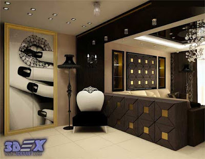 art deco style, art deco interior design, art deco home decor with art painting
