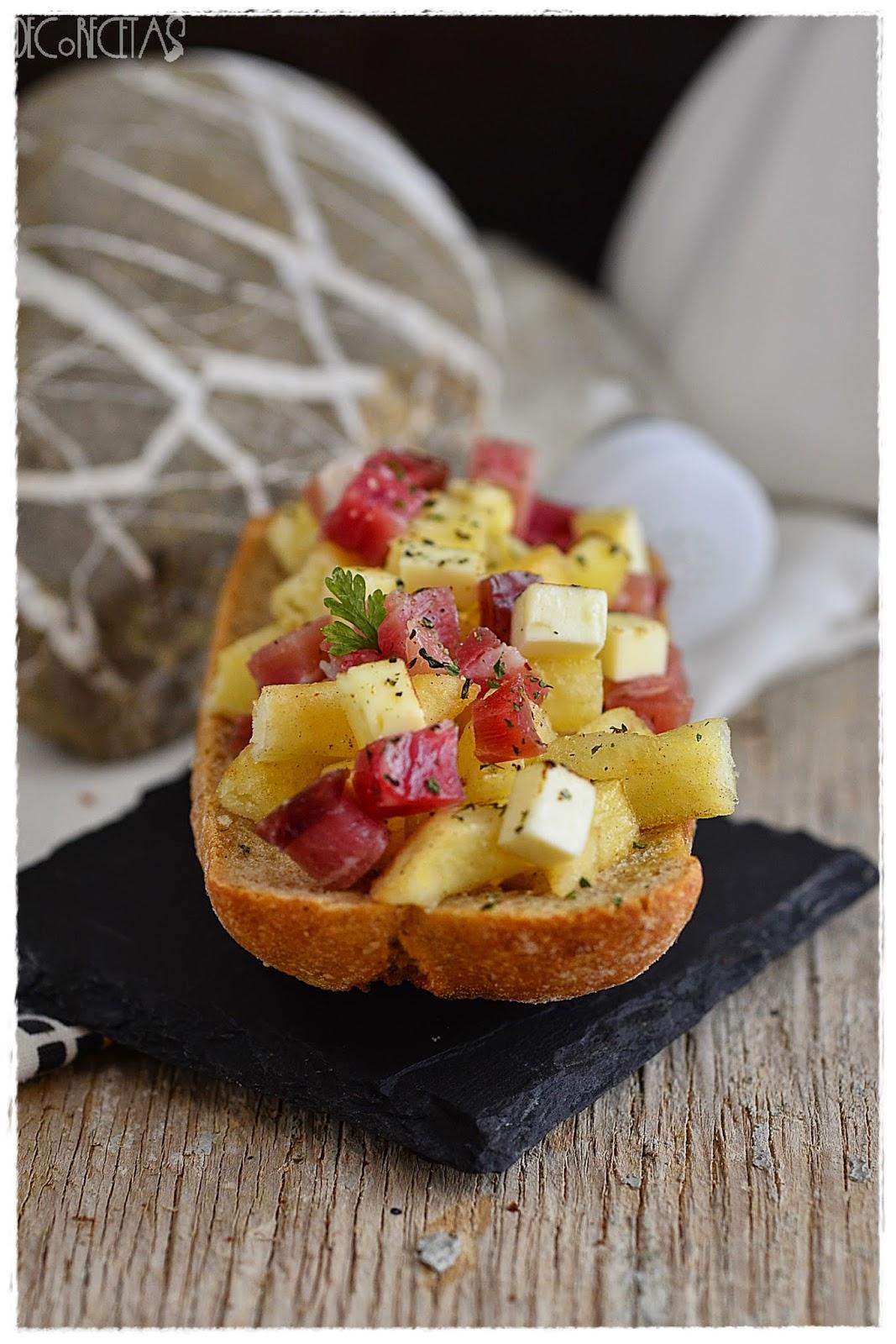 Tartiflette en tostada