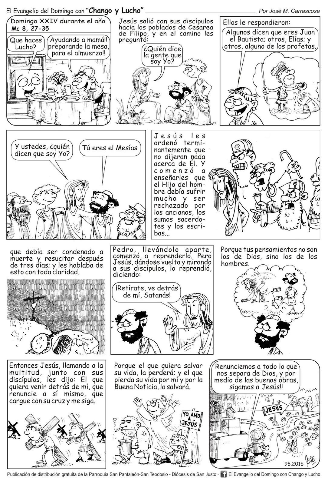 Prensa Obispado de Catamarca: Historietas para colorear