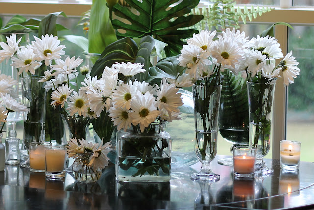 daisies and candles