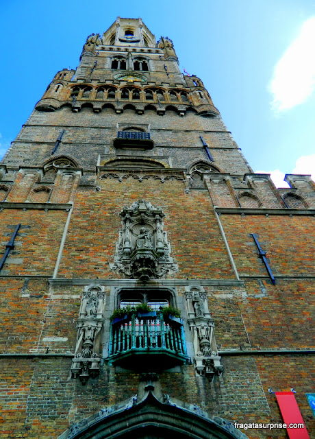 Torre Belfry (ou Belfort, em francês), em Bruges, Bélgica