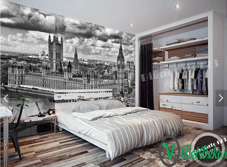 Tranh dán tường 3d phòng khách đẹp