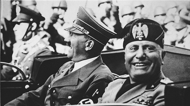 Benito Mussolini with Hitler