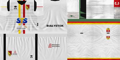 PES 6 Kits Jagiellonia Białystok Season 2018/2019 by GoofyOG