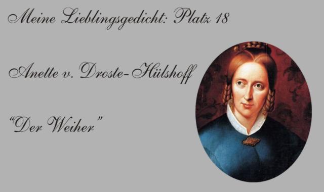 Anette Droste Hüshoff Lieblingsgedicht