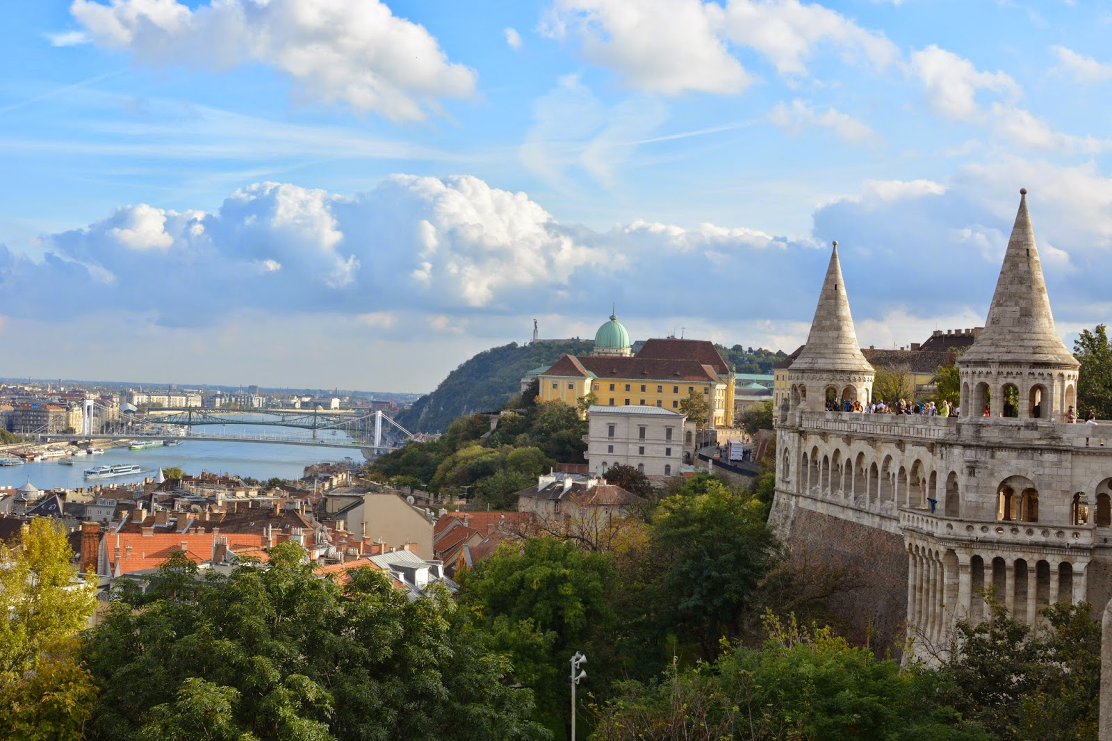 Views of Budapest from Fishermans Bastion