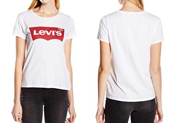 camiseta mujer de la marca levis