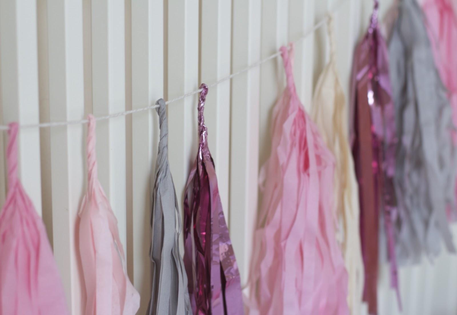 tassel garland etsy pink