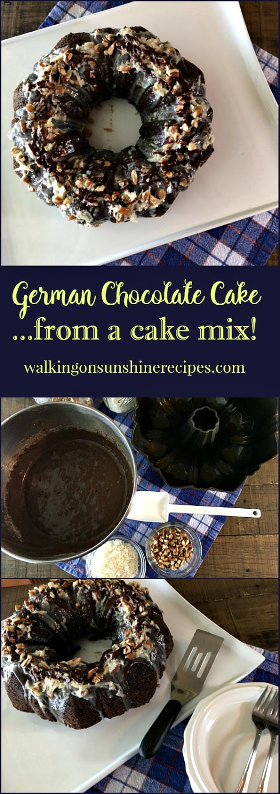 Recipe: Easy German Chocolate Cake from a Cake Mix - Walking on ...