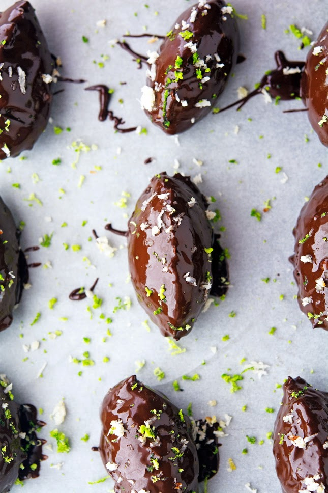 Chocolate Covered Lime Coconut Bites