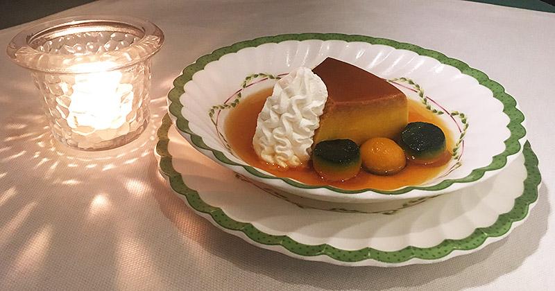 新宿東口のクラシカルなレストラン『ル・ブラン 新宿店』のかぼちゃプリン