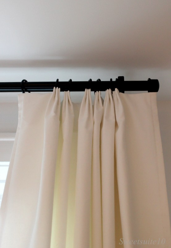 bedroom curtain pleats