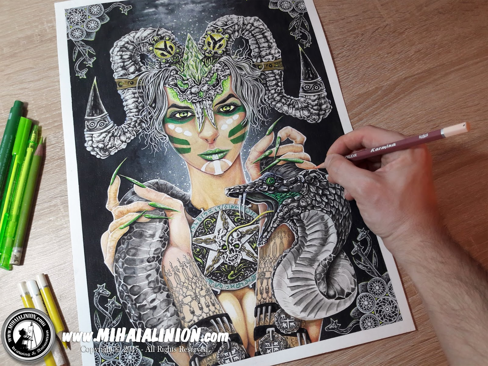 Drawing Snake Lady, Drawing girl, Drawing lady with horns, snake, Drawing woman, painting horror art, classic art, painting dark art, ancient egyptian deity, How to draw cats, cat pencil drawing, dark fantasy art snake, mithology illustration, pentagram, snake god, youtube artist, hot sexy girl snake, MAI Comics, Mihai Alin Ion, art by mihai alin ion, how to draw, artselfie, drawing ideas, free drawing lessons, drawing tutorial, art, drawing apep, dessin, disegno, dibujo, drawing, illustration, painting, design, realistic 3d art, coloured pencils, www.mihaialinion.com, 2017, pencil drawing, tempera, acrilics paint, marker, gouache painting, mixed media, comics, comic book, caricature, portrait, cum sa desenezi, caricaturi mihai alin ion, caricaturi si portrete  la comanda, eveniment caricaturi, caricaturi la nunta, caricaturi la botez, caricaturi la majorat, desene pe pereti, desene pentru copii, ilustratie carte, benzi desenate, caricaturi, portrete, comanda caricaturi