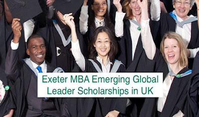 Exeter MBA Emerging Global Leader Scholarship, UK 2018 - Apply Now