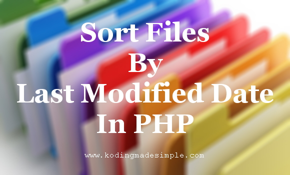 sort-files-by-last-modified-date-in-php