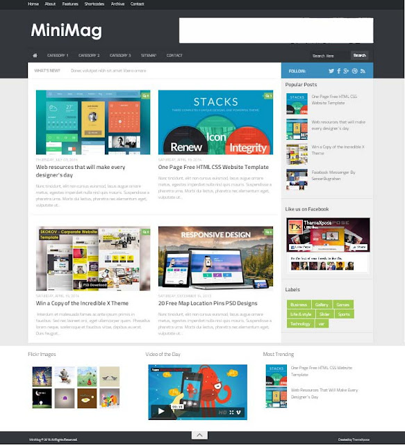 MiniMag Responsive Beautiful Blogger Template Free Download