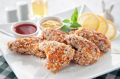 جوانج دجاج بالسمسم - مطبخ منال العالم