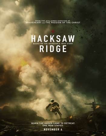 Poster Of Hacksaw Ridge 2016 English 600MB BluRay 720p ESubs HEVC Free Download Watch Online downloadhub.in