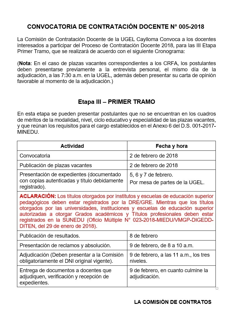Contrato docente 2016 2018 contrato docente 2018 for Sep convocatoria plazas 2016