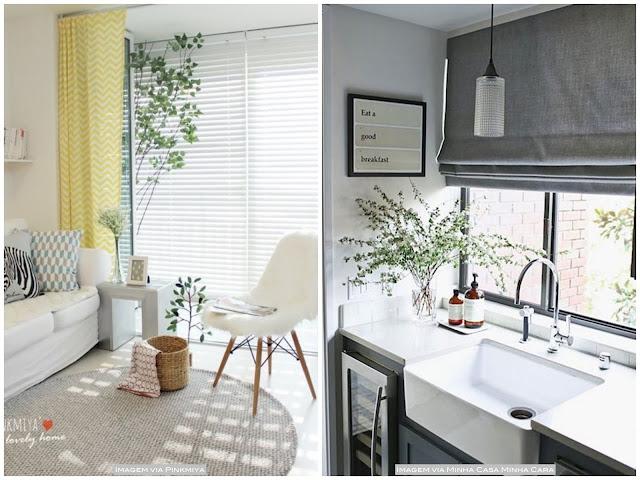 decoração cortina e persiana