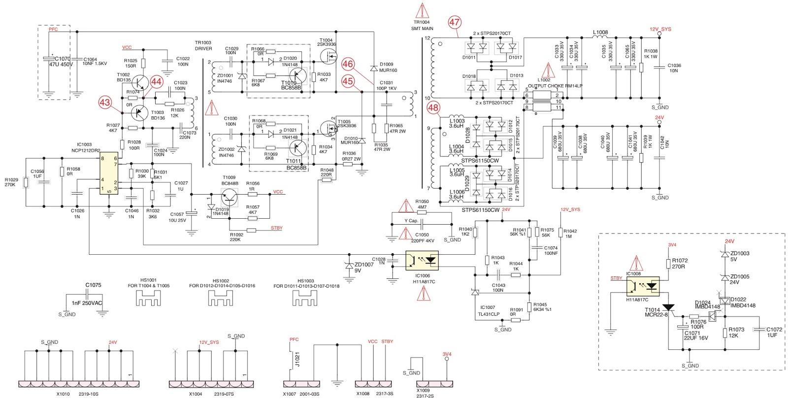 Grundig Lcd Tv Smps Schematics Circuit Diagrams Homenol Dryer Schematic Wiring Diagram Fuse Screw Power Supply Board Z4h194 06 Used Ics Ncp1212dr2 2sk3936fetx2 H11a817copto