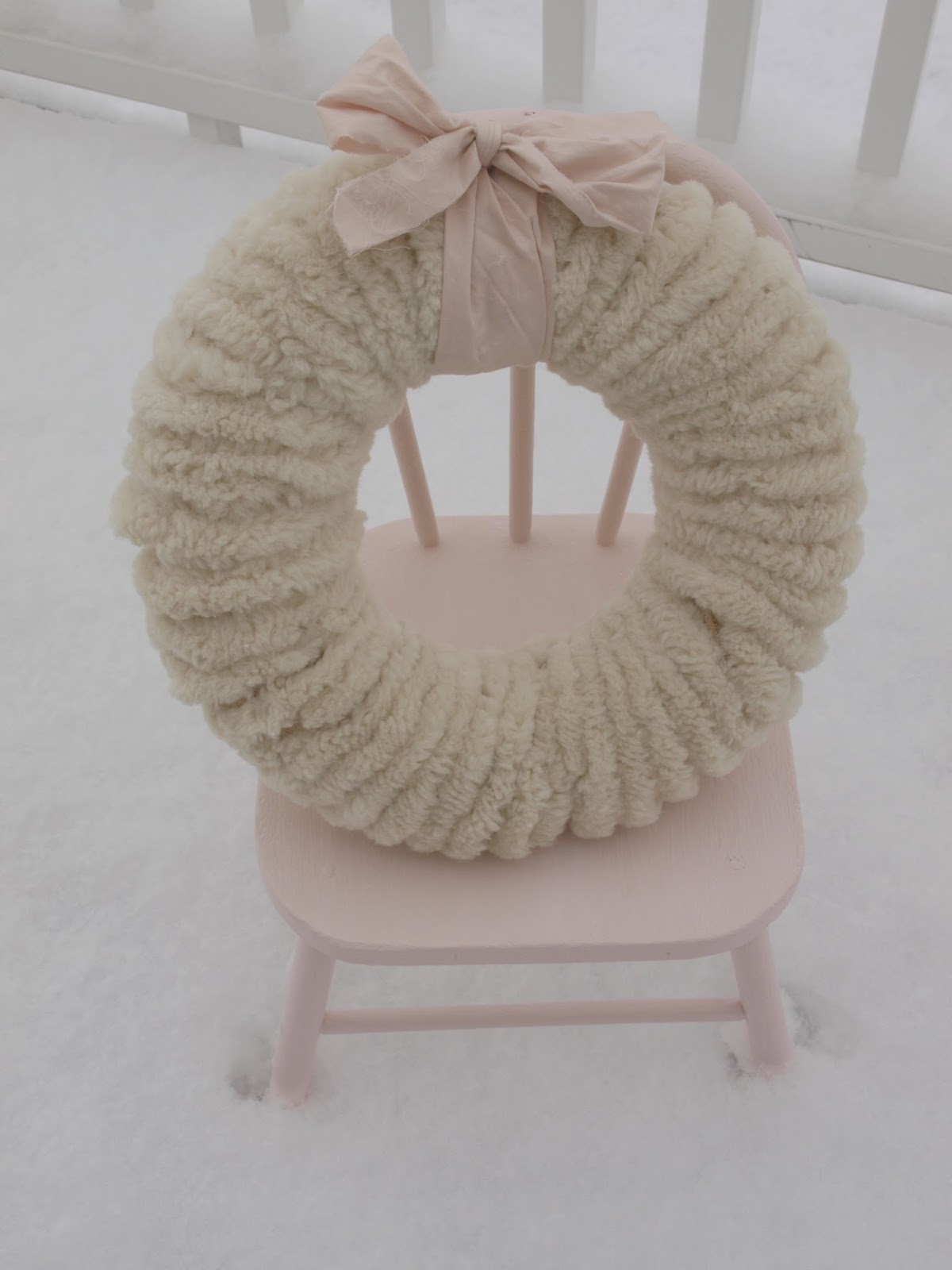 Pink Christmas decor inspiration and a pom pom wreath. Hello Lovely Studio.