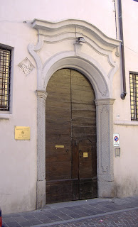 The entrance to the Franco Gaffurio Music School in Lodi