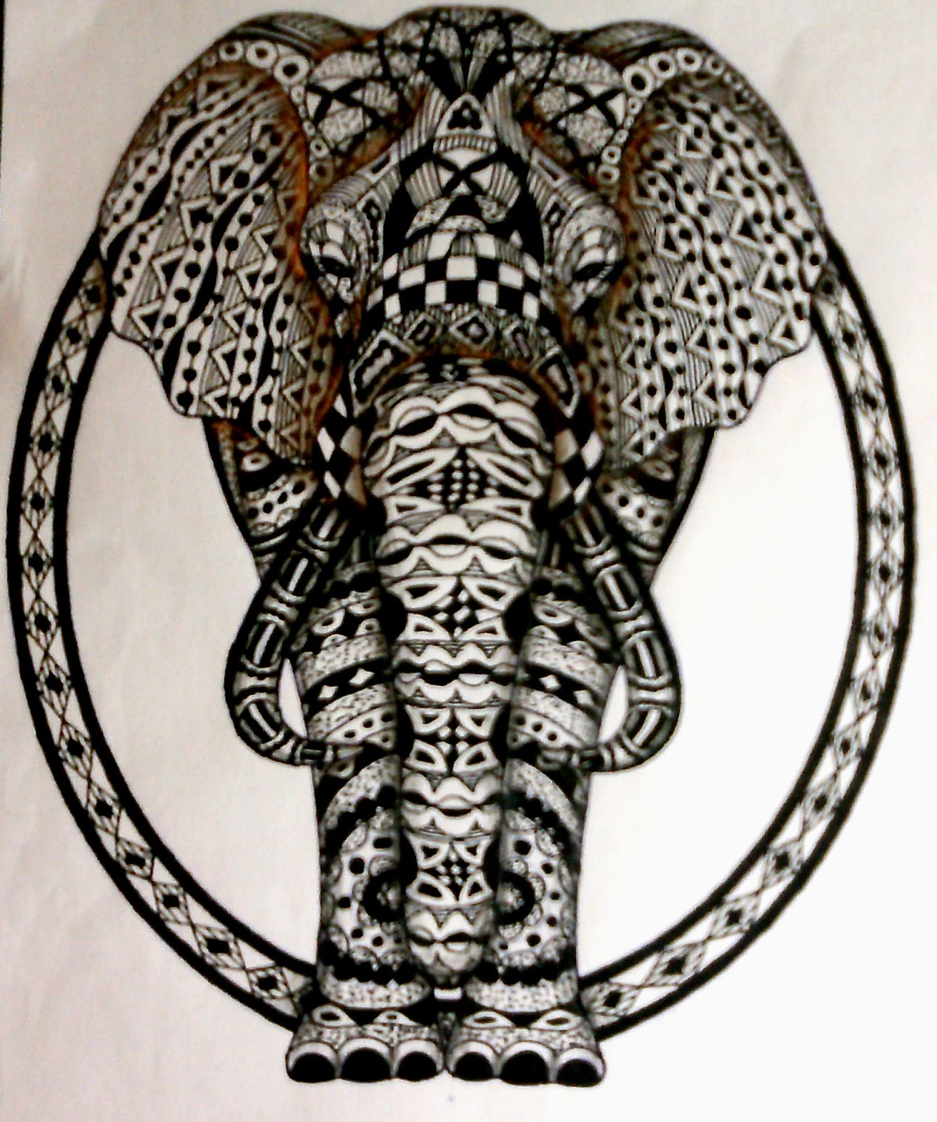 Zentangle Elefant Vorlage Meine Zentangle Und Journal Welt