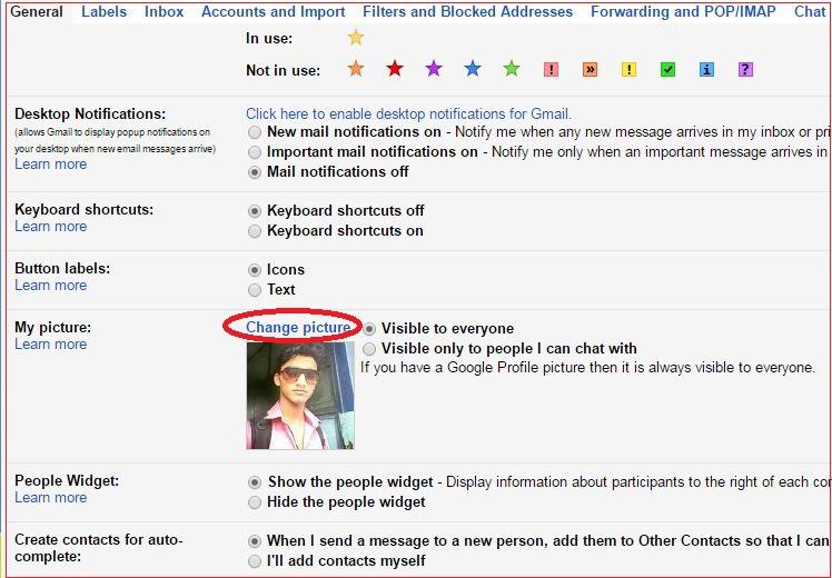 how to delete profile picture gmail