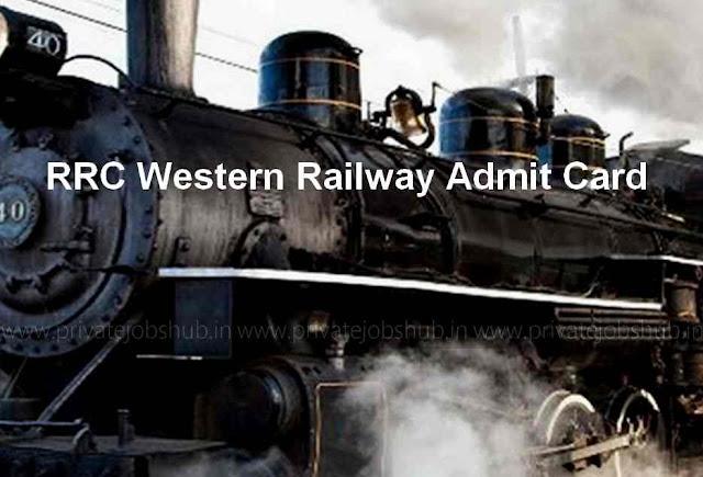 RRC Western Railway Admit Card