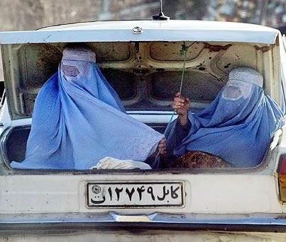 Photo Of The Day  Afghanistan Burqa Clad Women In Trunk Of Car