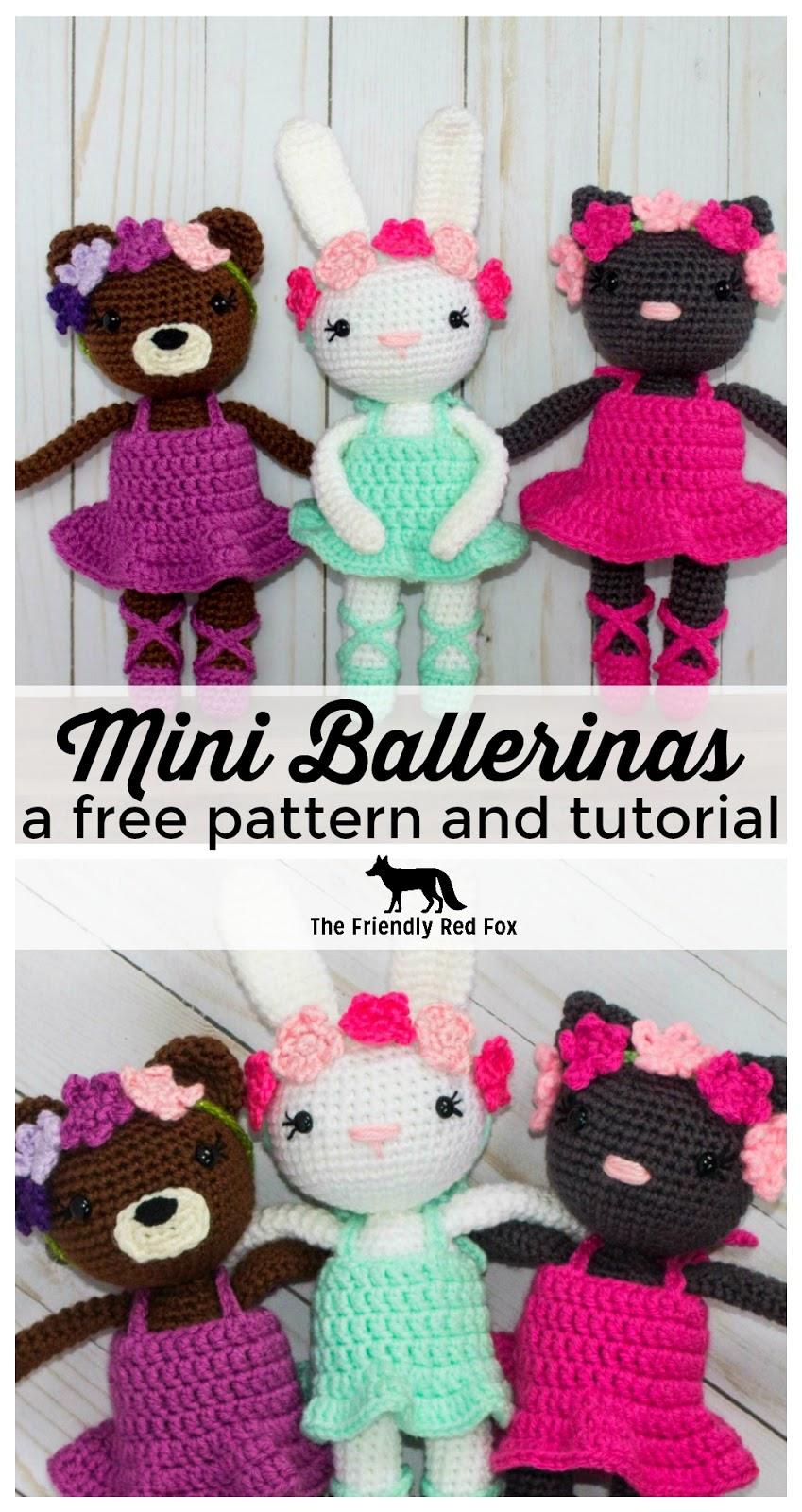 Amigurumi Mini Bear Crochet Pattern | 1600x849