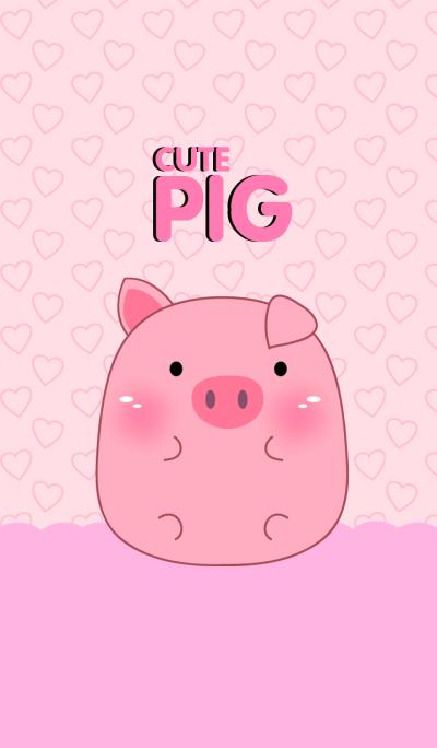 Cute Pink Pig Theme