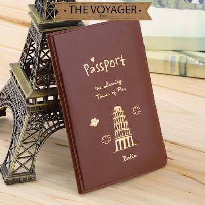 sampul paspor kulit passport cover leather holder wallet import unik lucu
