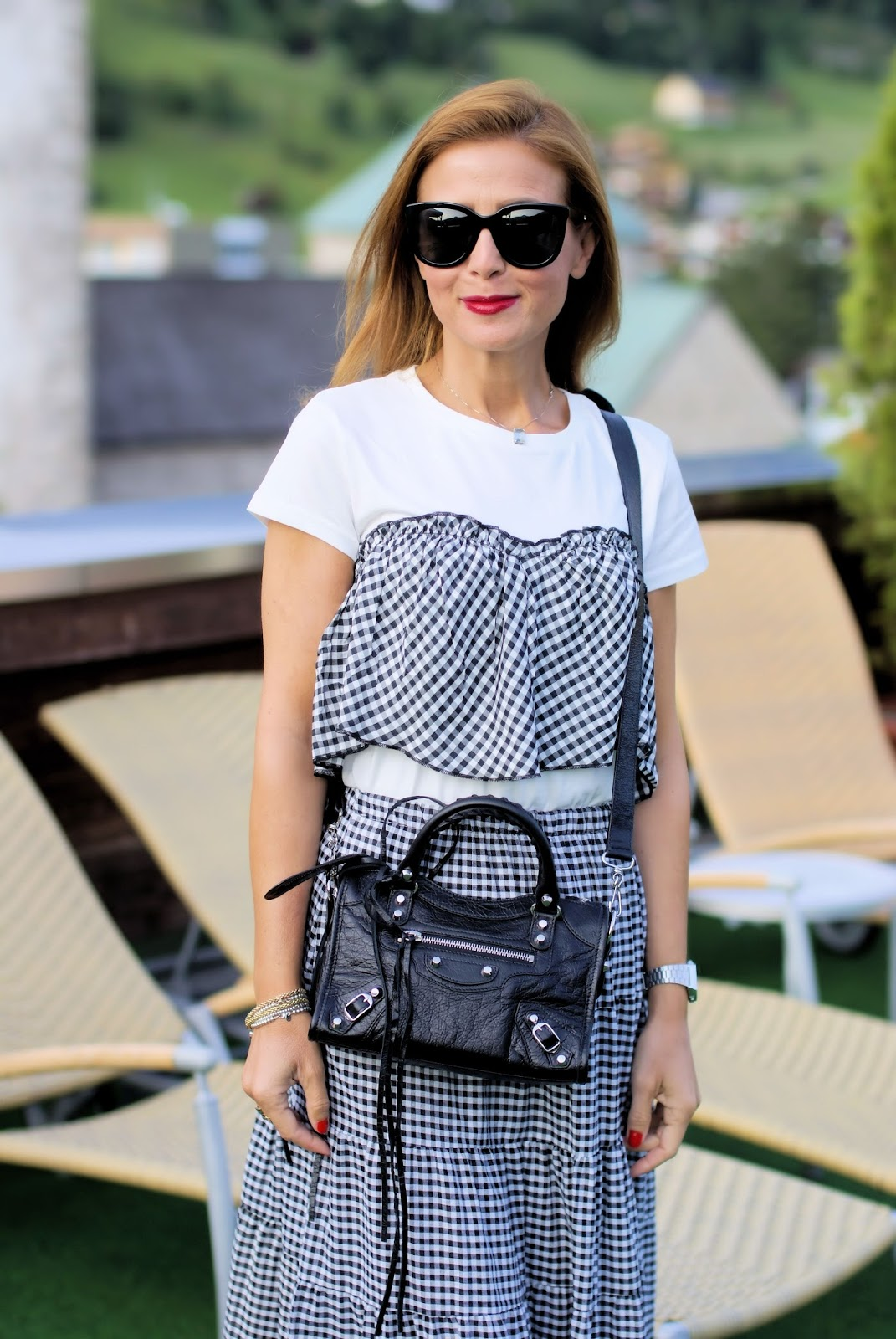 How to keep wearing Gingham in Fall on Fashion and Cookies fashion blog, fashion blogger style