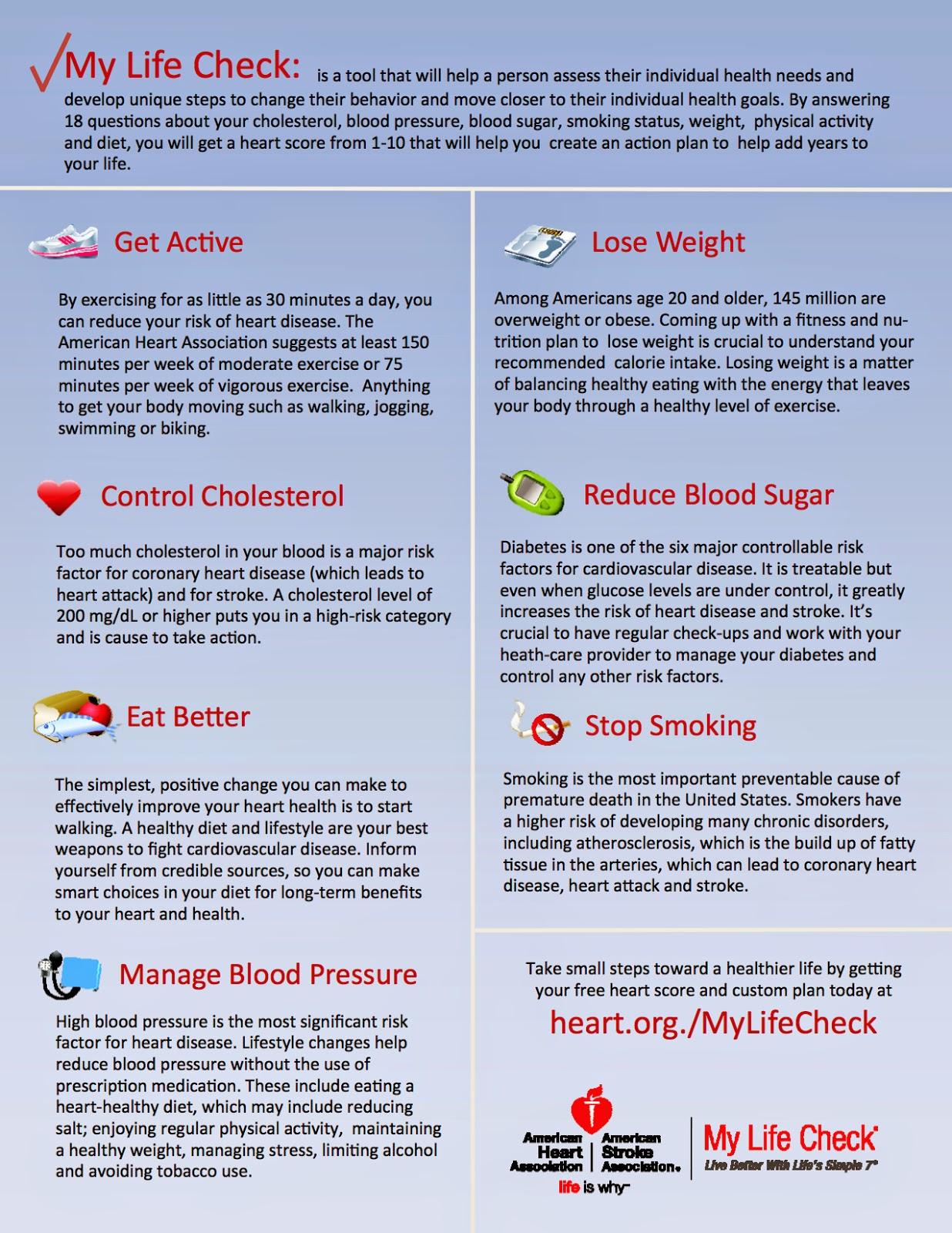 Cdphe Wellness American Heart Association Life S Simple 7