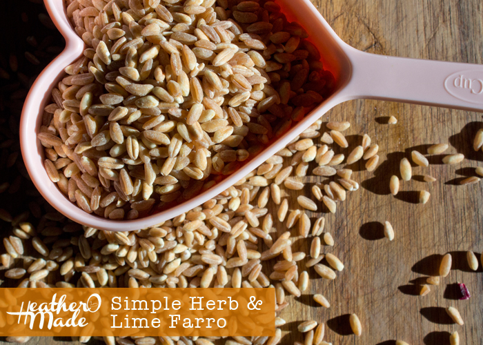 simple herb lime farro recipe