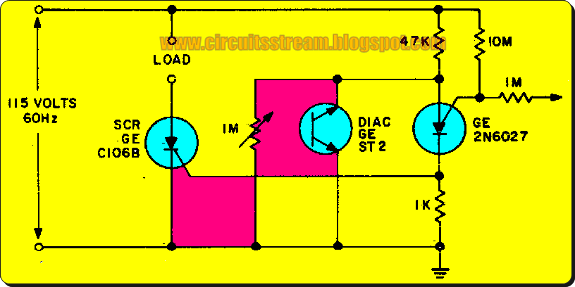 Simple Proximity Detector Sensor Circuit Diagram
