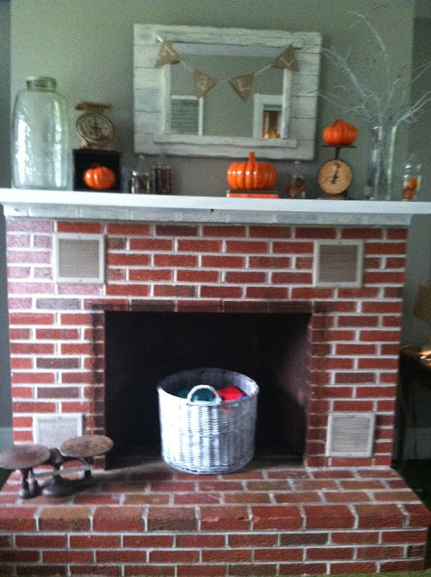 Calculating blessings blessing 156 fireplace makeover - Red brick fireplace makeover ...