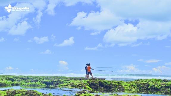 Memancing Ikan Di Pantai Watu Kodok